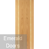 Contemporary Oak Ceylon Fire Door