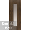 Axis Walnut Glazed Internal Door