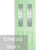 GRP Green Malton 2 Light Composite External Door