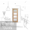 Sliding French Doors with Shaker Obscure Glazed Doors