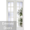 White Moulded 10 Light Internal French Doors
