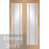 Oak Worcester Glazed French Doors