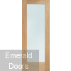 Pattern 10 Oak Door with Clear Glass