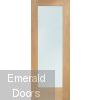 PATTERN 10 CLEAR GLAZED OAK DOOR