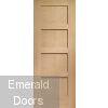 Shaker Oak 4 Panel Fire Door