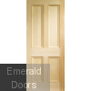Edwardian 4 Panel Vertical Grain Internal Door