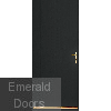 Black Tongue and Groove External Fire Door Set