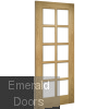 Oak Bristol Internal Door with Clear Bevelled Glass