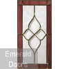 Chancery Onyx Tri-Glazed External Oak Door Glass Image