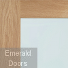 Pattern 10 Oak Door with Clear Glass Corner Profile