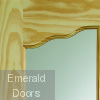 Riviera Internal Clear Pine Door with Clear Glass Corner Profile