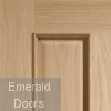Victorian 4 Panel Oak Door with Raised Mouldings Corner Profile