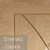 Pesaro Unfinished Oak Fire Door Small Image