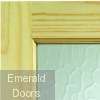 2XG External Clear Pine Door (Dowelled) with Flemish Glass Corner Image