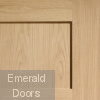 Oak Shaker 4 Panel Fire Door Panel