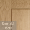 Oak Shaker Pattern 10 Fire Door Corner Profile