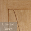Verona Unfinished Oak Fire Door Small