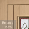 Chancery Onyx Tri-Glazed External Oak Door Corner Profile