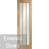 Oak Worcester Clear Glazed French Doors with Side Panels