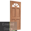 Carolina Unglazed External Hardwood Door (M&T) Skewed Image