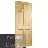 Colonial 6 Panel Clear Pine Internal Door Skewed Image
