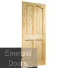 Rio 4 Panel Clear Pine Internal Door Skewed Image