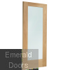 Pattern 10 Oak Door with Clear Glass Skewed Image