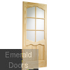 Riviera Internal Clear Pine Door with Clear Glass Skewed Image