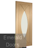 Pesaro Unfinished Oak Fire Door Skewed Image