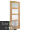 Oak Shaker Prefinished 4L Obscure Glazed Door Skewed Image