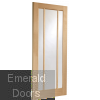 Worcester 3 Light Internal Oak Door with Clear Glass Skewed Image