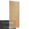 Palermo Oak Fire Door Unvarnished Skewed Image