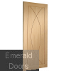 Pesaro Pre-Finished Oak Internal Door Skewed Image