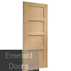 Shaker Oak 4 Panel Fire Door Skewed Image