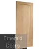 Oak Shaker Pattern 10 Fire Door Skewed Image
