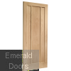 Worcester Unfinished Oak Internal Door Skewed Image
