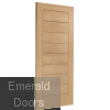 Modena Oak External Door Skewed Image
