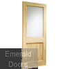 2XG External Clear Pine Door (Dowelled) with Clear Glass Skewed Image