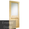 2XG External Clear Pine Door (Dowelled) with Flemish Glass Skewed Image