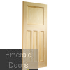Vertical Grain Vine DX Pine Internal Door Skewed Image