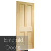 Edwardian 4 Panel Vertical Grain Internal Door Skewed Image