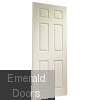 Colonist 6 Panel Internal White Moulded Fire Door Skewed Image