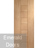 Messina Unfinished Oak Fire Door
