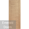 Palermo Oak Fire Door Unvarnished