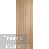 Suffolk Oak Prefinished Door 24""