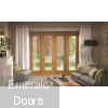 La Porte Oak 5ft French Doors With 2 Side Panels