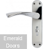 Moselle Lever On Backplate Bathroom Lock PC
