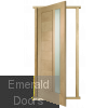 External Oak Door Frame with Oak Door