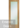 Pattern 10 Internal Oak Door with Obscure Glass