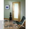 Pattern 10 Internal Oak Door with Obscure Glass In Situ